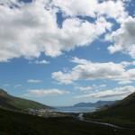 Eskifjörður séð innan úr dal
