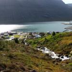 waterfall in iceland eskifjordur fjardabyggd