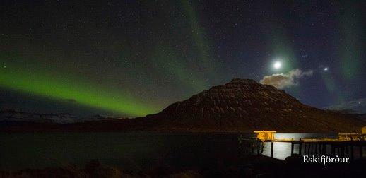 Norðurljós yfir Hólmatind