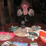 Icelandic Brennivin (alcahol), dried fish snacks and shark